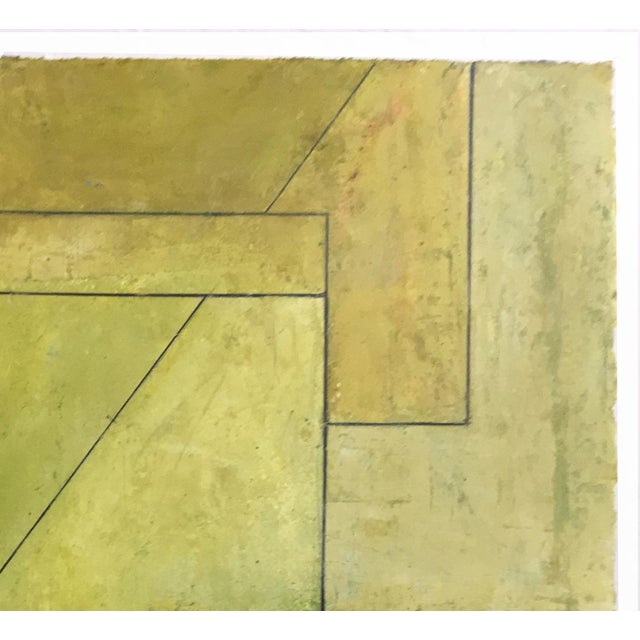 """""""Olive Tree"""" Geometric Abstract Painting on Paper by Stephen Cimini For Sale - Image 4 of 6"""