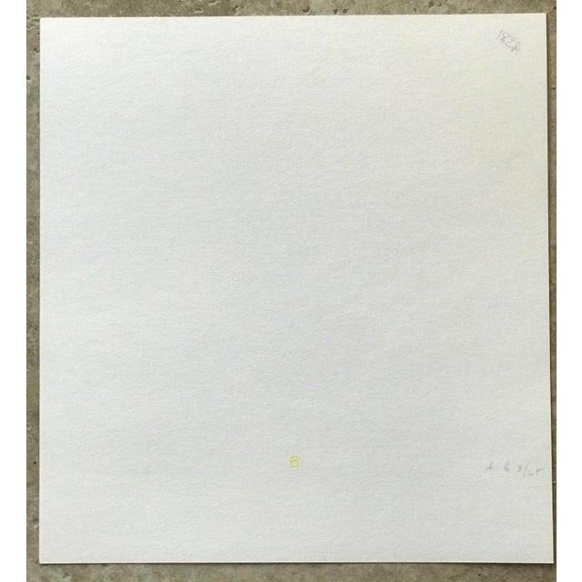 Josef Albers 1970s Geometric #1 Serigraph Signed by Antonio Calderara For Sale - Image 4 of 6