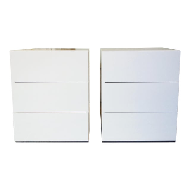 Brix 3-Drawer Bedside Table by Niels Bendtsen - Pair - Image 1 of 9