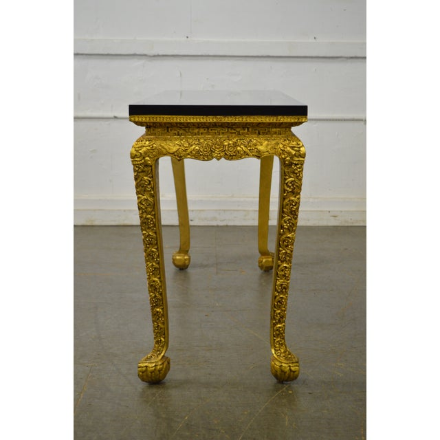 Georgian Style Carved Gilt Console Table by Manheim Weitz For Sale - Image 12 of 13