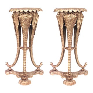 English Regency Bronze Elephant Pedestals - A Pair For Sale