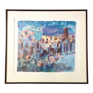 "Vintage ""Sorano-Toskana"" by Ralf Westphal, Signed For Sale"
