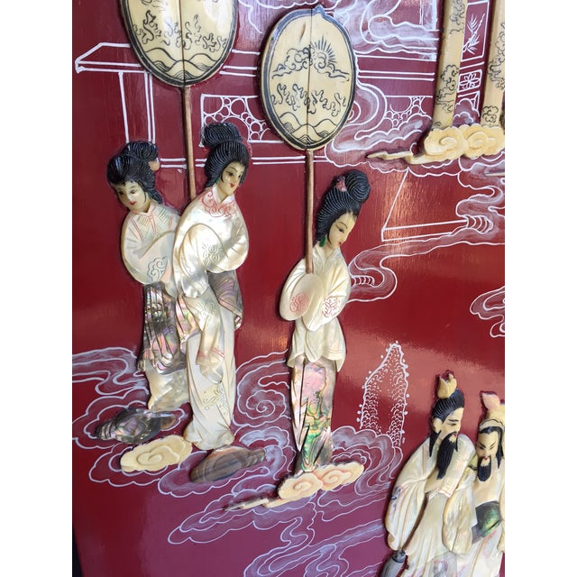 Vintage Chinoiserie Folding Screen - Image 5 of 10