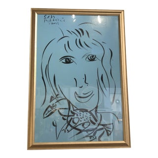 "Signed Peter Keil Face in ""Gold"" Frame For Sale"