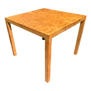 Vintage Mid Century Modern Werner Kanner Burl Wood Table For Sale