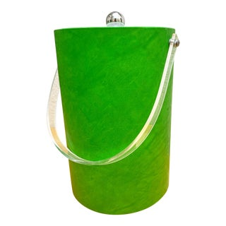 Vintage Citrus Green Tall Ice Bucket For Sale