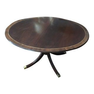 Baker Single Pedestal Dining Table For Sale
