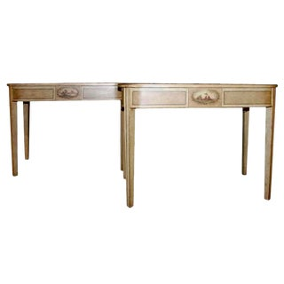 19th Century Faux Painted Console Tables - a Pair For Sale
