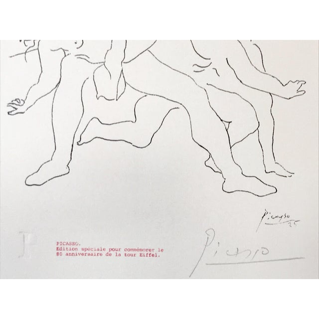 """Picasso Pencil Signed Edition Lithograph """"Four Dancers"""" 1969 For Sale In New York - Image 6 of 7"""