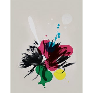 Abstract Art Dahlia Screenprint by Dana McClure For Sale
