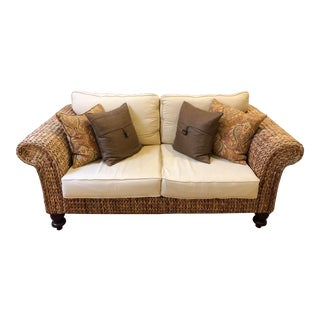 Petite Seagrass Sofa by Palecek For Sale