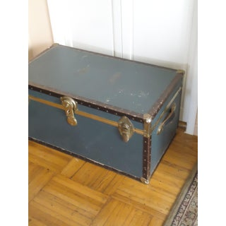 1950's Mid-Century Vintage Steamer Trunk Preview