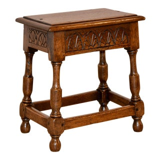 19th Century English Joint Stool For Sale