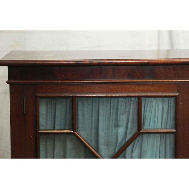 Traditional 20th Century Traditional Mahogany Claw Foot Breakfront Bookcase With Glass Doors For Sale - Image 3 of 11
