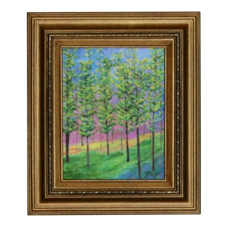 Enchanted Forest Painting, Framed For Sale