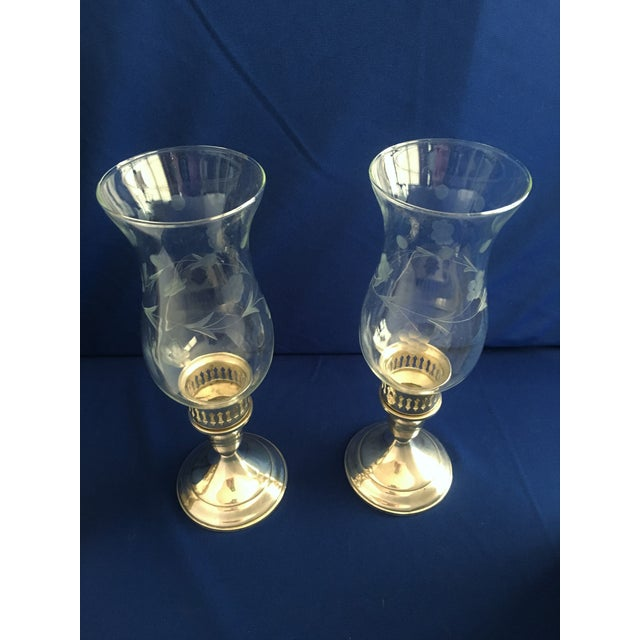 Towle Sterling Silver Hurricane Lamps - A Pair - Image 4 of 9