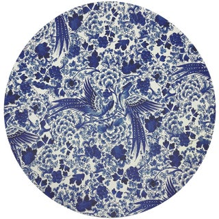 "Nicolette Mayer Royal Delft Inspiration White 16"" Round Pebble Placemats, Set of 4 For Sale"