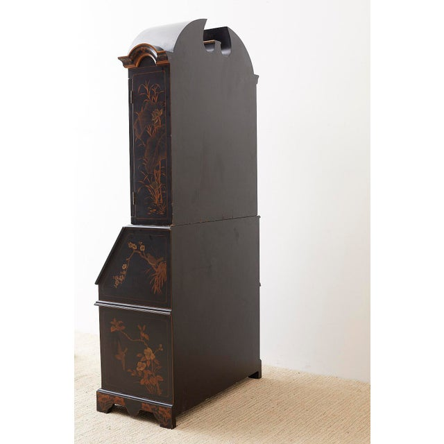 English Chinoiserie Style Lacquered Parcel-Gilt Secretary For Sale - Image 12 of 12