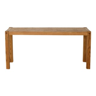 Conant Ball Furniture Square Detail Wood Sofa or Console Table For Sale