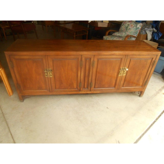 Mid-Century Maple and Brass Credenza by Century - Image 2 of 10
