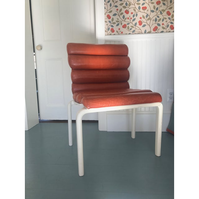 Animal Skin 1960s Italian Leather Chairs - *Revised Set of Four* For Sale - Image 7 of 7