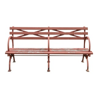 1930s Vintage Kenneth Lynch & Sons World's Fair Nyc Double Cast Iron Moses Bench For Sale