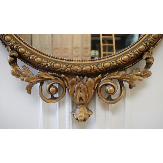 Vintage Neoclassical Style Giltwood Mirror For Sale - Image 4 of 7