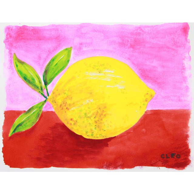 Lemon Abstract Still Life Painting by Cleo - Image 2 of 3