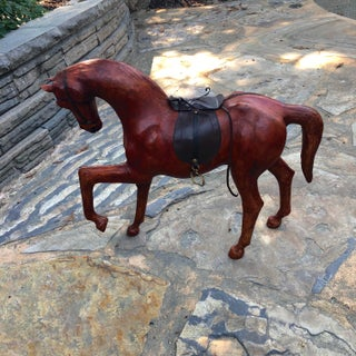 Vintage Decorative Leather Wrapped Horse Preview