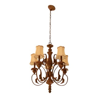 Schonbek Contemporary 5 Arm Light Fixture Chandelier For Sale