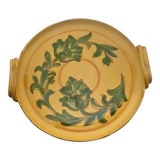 Vintage Carciofi for William Sonoma Italian Hand-Painted Ceramic Platter