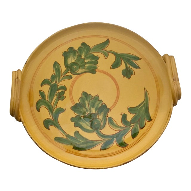Vintage Carciofi for William Sonoma Italian Hand-Painted Ceramic Platter For Sale