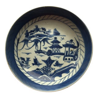 19th Century Asian Porcelain Dish Bowl For Sale