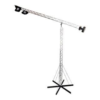 Adjustable Boom Crane Lamp in Nickel Finish For Sale