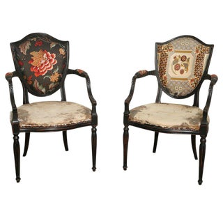 Pair of Elegant Armchairs For Sale