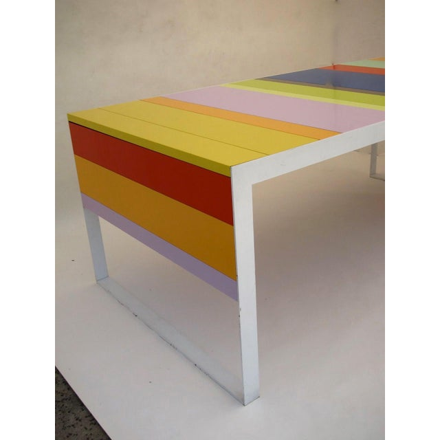 Memphis Modern Style Multi Color Table Desk For Sale In San Francisco - Image 6 of 7