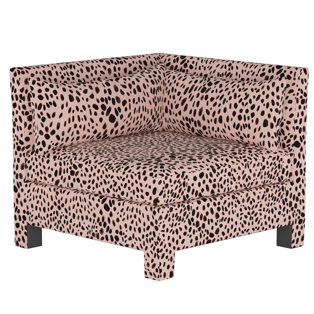 Textile Washed Cheetah Pink Corner Chair For Sale - Image 7 of 7