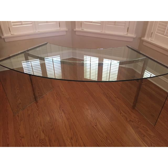 DIA Curved Glass & Chromed Steel Writing Desk - Image 8 of 10