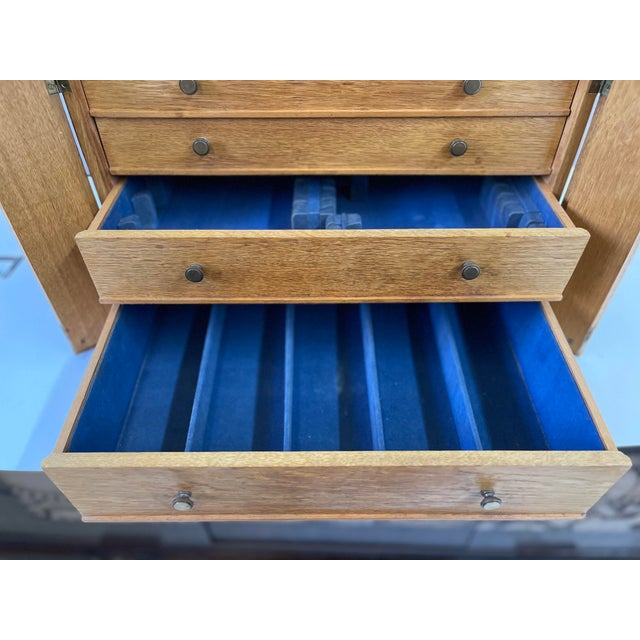 English Campaign Silver Flatware Chest For Sale - Image 10 of 13