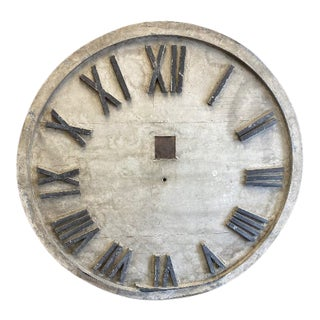Clock Face of Oversize 6-Foot Diameter From Exterior of Early 20th Century Midwestern Courthouse; Ships Free. For Sale