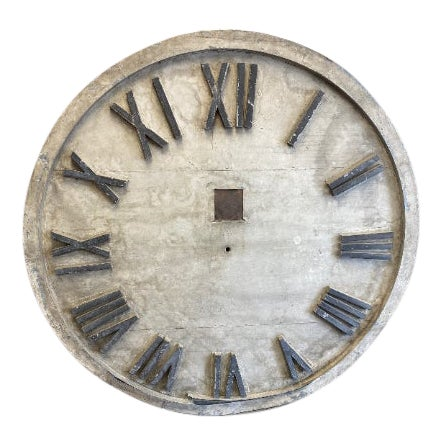 Clock Face of Oversize 6-Foot Diameter From Exterior of Early 20th Century Midwestern Courthouse; Ships Free.* For Sale
