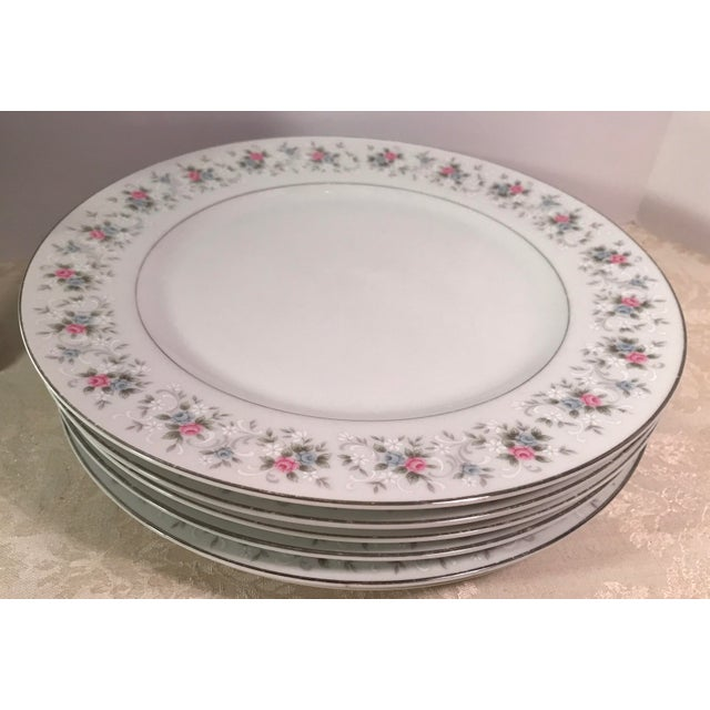 """Japanese China """"Corsage"""" Dinner Plates - Set of 7 - Image 5 of 6"""