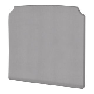 The Crown Headboard - Queen - Charles - Italian Blend, Light Gray For Sale