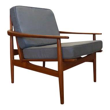 Grete Jalk Danish Teak Lounge Chair For Sale