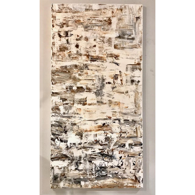 """Leila Pinto, """"Triptych Taupe Abstract"""" acrylic on canvas 2018, measures: 18 x 36. Artwork may be purchased individually or..."""