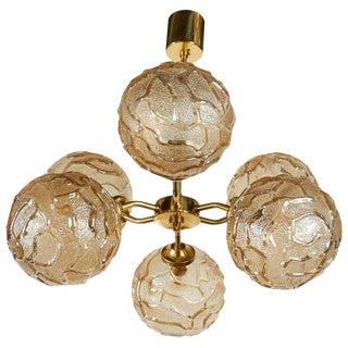 1950s French Sputnik Chandelier With Geometric Glass Globes For Sale