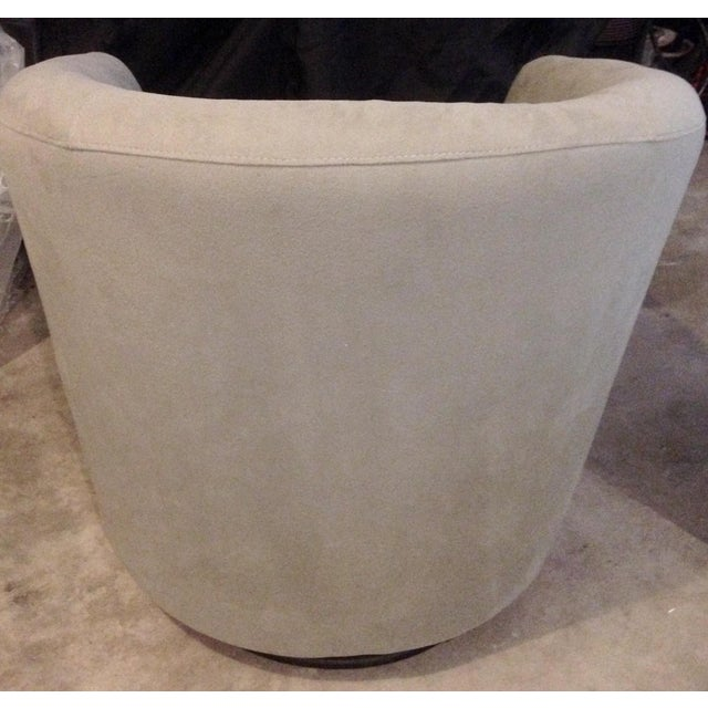 Contemporary Swivel Bucket Chairs - A Pair - Image 6 of 6