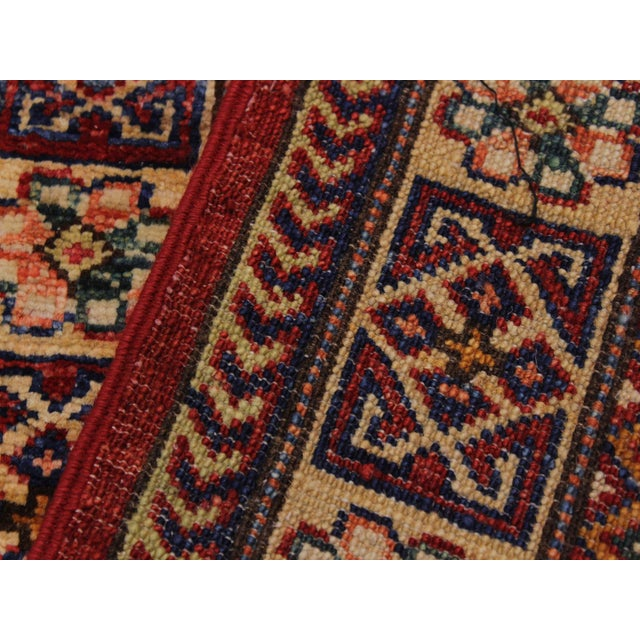 Textile Persian Margaret Red/Beige Hand-Knotted Wool Rug - 2'0 X 2'10 For Sale - Image 7 of 8