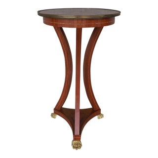 Vintage French Louis XV Style Marquetry Inlay Top Occasional Accent Table