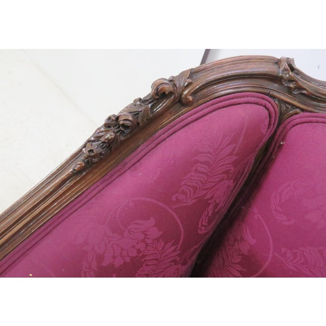 French Walnut Carved Club Chair For Sale In Philadelphia - Image 6 of 8